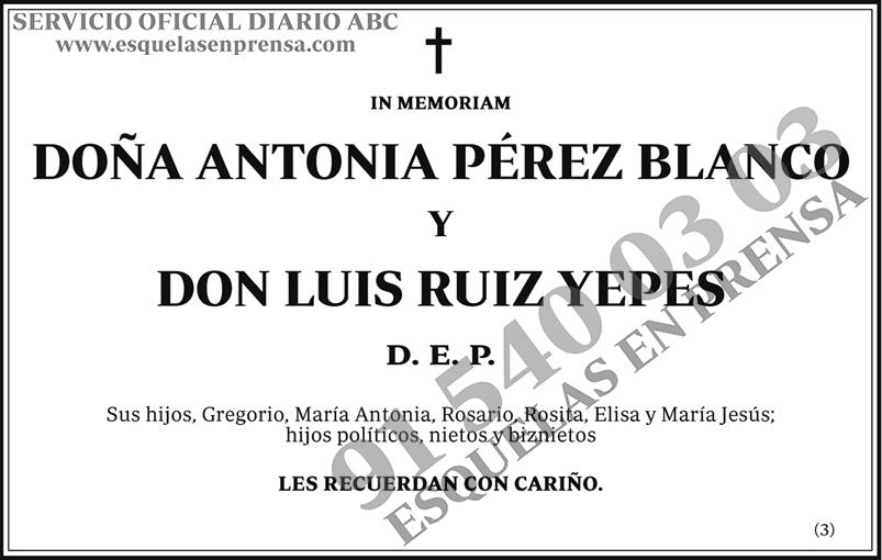 Antonia Pérez Blanco y Luis Ruiz Yepes